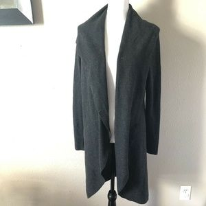 Eileen Fisher Charcoal Gray Open Cardigan Sweater